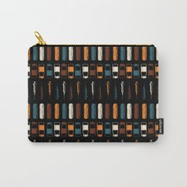 Vintage Vaccines - Large on Black Carry-All Pouch