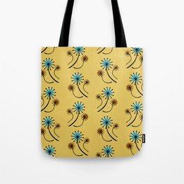 Mid Century Modern Dandelions on yellow Tote Bag
