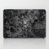 cincinnati iPad Cases featuring Cincinnati map by Line Line Lines