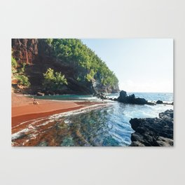Red Sand Beach - Hana, Hawaii Canvas Print