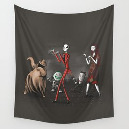 Thriller before Christmas Wall Tapestry