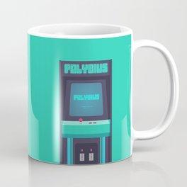 Polybius Arcade Game Machine Cabinet - Front Green Coffee Mug