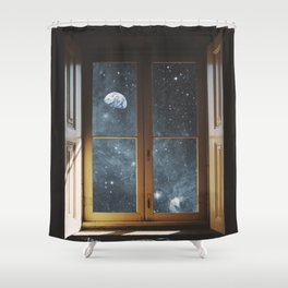 WINDOW TO THE UNIVERSE Shower Curtain