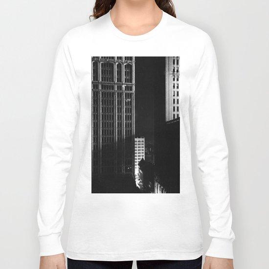 architecture immeuble noir blanc 4 Long Sleeve T-shirt