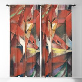 Franz Marc - The Foxes Blackout Curtain