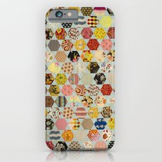Hexagon and Blue Star Quilt iPhone 6 Slim Case