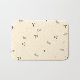 Aries Pattern - Beige Bath Mat
