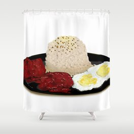 Tocilog (tocino, egg, fried rice) -filipino food Shower Curtain
