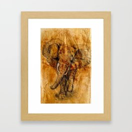 Elephant never forgets Framed Art Print