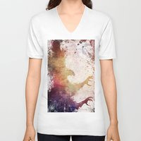 eagle V-neck T-shirts featuring Eagle by jbjart