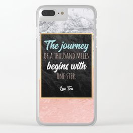 One step Clear iPhone Case