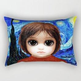 Big Eyes With Starry Night Rectangular Pillow