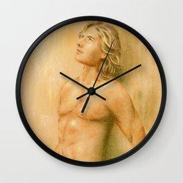 Adonis - Male Nude Wall Clock