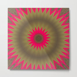 Pinkbrown Mandala 2 Metal Print