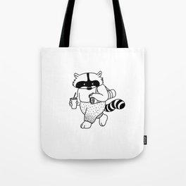 Animal Urbanites: Yoga Raccoon Tote Bag