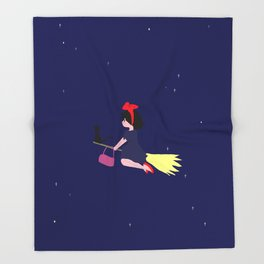 Witch in Training / Kiki's Delivery Throw Blanket