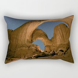 Double Arch And The Milky Way - Arches National Park - Moab, Utah. Rectangular Pillow
