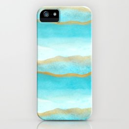 Gold and blue sea iPhone Case