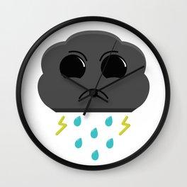 Grumpy Storm Cloud Kawaii Wall Clock