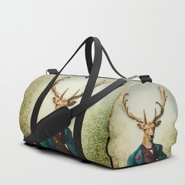 Lord Staghorne in the wood Duffle Bag