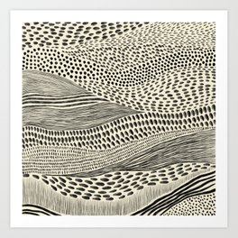 Hand Drawn Patterned Abstract II Art Print