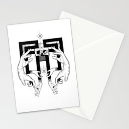 meditation migraine Stationery Cards