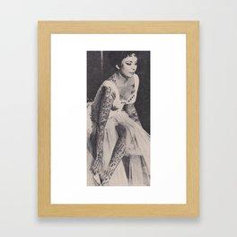 Tattoed Bina Framed Art Print