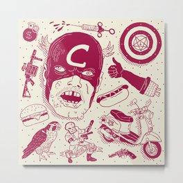 Craptain America Metal Print