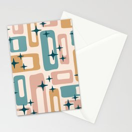 Retro Mid Century Modern Abstract Pattern 126 Stationery Cards