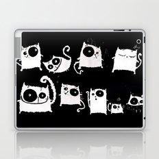 cats on black Laptop & iPad Skin