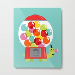 Mr. Turtle's Gumball Factory! Metal Print