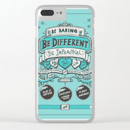 Be Daring, Be Different... Clear iPhone Case