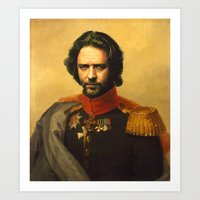 Russell Crowe - replaceface Art Print