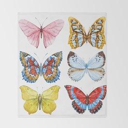 Butterflies 01 Throw Blanket