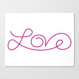 Love calligraphy print Canvas Print