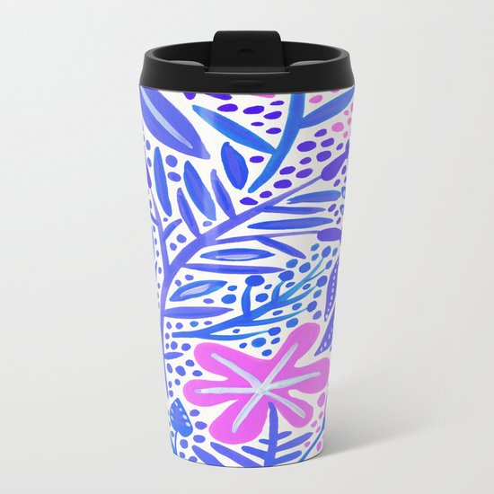 Garden – Indigo Palette Metal Travel Mug