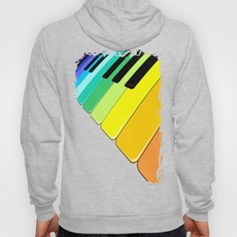 Piano Keyboard Rainbow Colors  Hoody