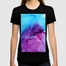 Aqua Pop - Alcohol Ink Painting T-shirt
