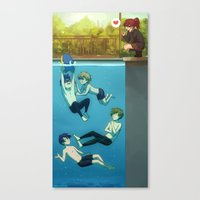 iwatobi Canvas Prints featuring IWATOBI SWIM CLUB by Nymre