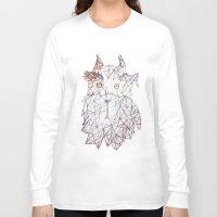 schnauzer Long Sleeve T-shirts featuring schnauzer  by monicamarcov