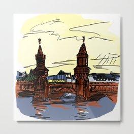 Oberbaumbrücke Metal Print