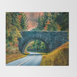Stone Bridge Throw Blanket