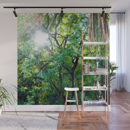 The enchanted woods | Bright tropical forest palm tree exotic green photography Wall Mural