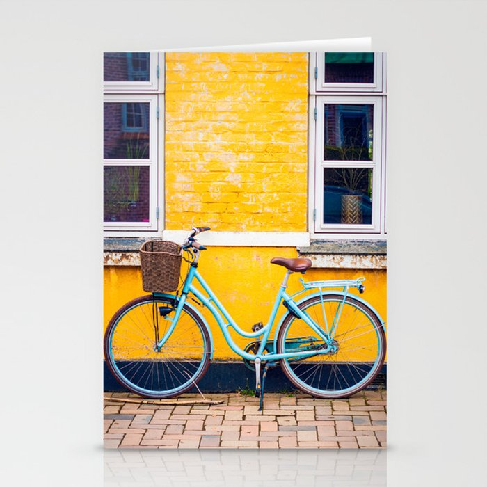 Bike and yellow Stationery Cards