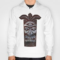 tiki Hoodies featuring Tiki arg by Georgina Dominguez