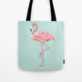 Flamingo, Pink Flamingo, Aqua Tote Bag