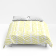 Handpainted Summer Sun Yellow Chevron pattern - Mix & Match with Simplicity of Life Comforters