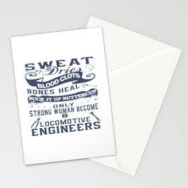 Locomotive Engineer Woman Stationery Cards