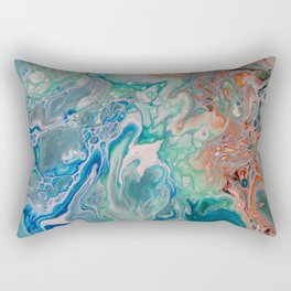 Tie the Knot Unique Fluid Acrylic Print Rectangular Pillow