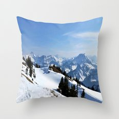Winter Paradise in Austria Throw Pillow